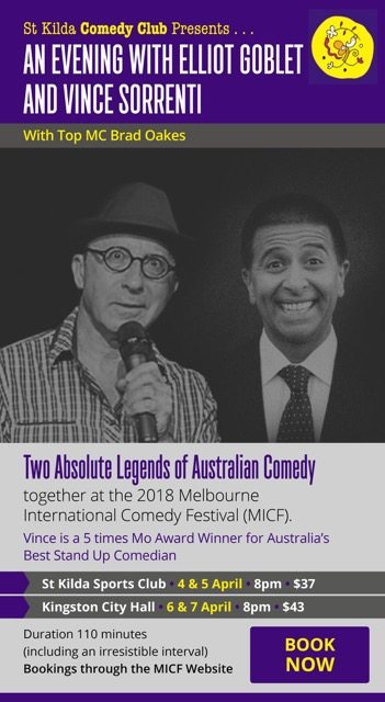 Comedy Festival Melbourne with Elliot Goblet