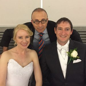 Elliot Goblet MC with wedding couple in Melbourne